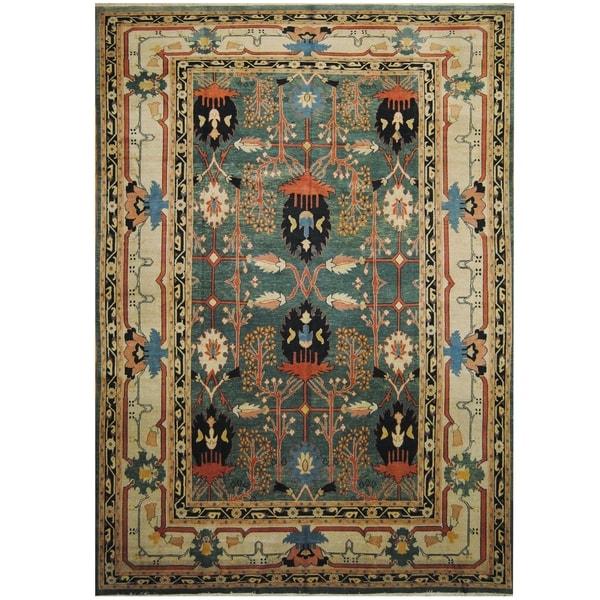 Handmade One-of-a-Kind Mahal Wool Rug (India) - 9'4 x 13'2