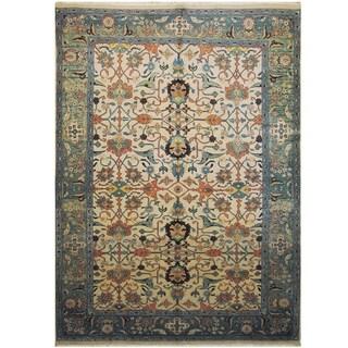 Handmade One-of-a-Kind Mahal Wool Rug (India) - 9'4 x 12'9