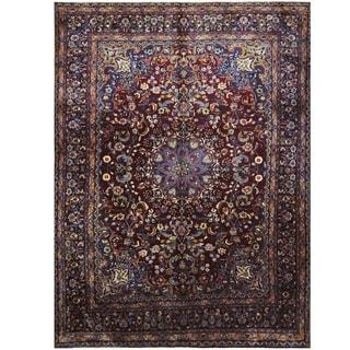 Handmade One-of-a-Kind Mashad Wool Rug (Iran) - 9'6 x 12'8