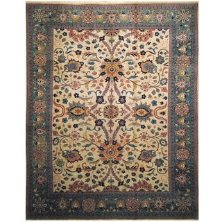 Handmade One-of-a-Kind Mahal Wool Rug (India) - 9'10 x 12'5