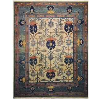 Handmade One-of-a-Kind Mahal Wool Rug (India) - 9'10 x 12'9