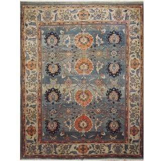 Handmade One-of-a-Kind Mahal Wool Rug (India) - 9'7 x 12'1