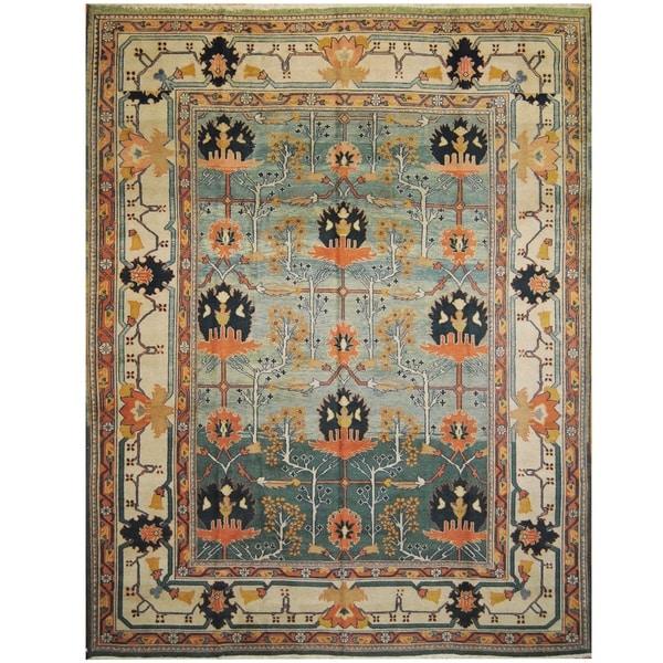 Handmade One-of-a-Kind Mahal Wool Rug (India) - 9'7 x 12'4