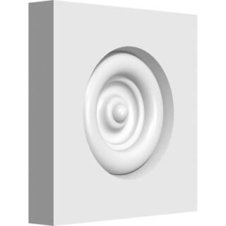 "3""W x 3""H x 1/2""P Standard Sedgwick Bullseye Rosette with Square Edge"