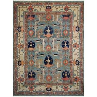 Handmade One-of-a-Kind Mahal Wool Rug (India) - 9'6 x 12'4