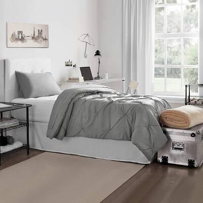 Porch & Den Hataya Alloy Pin Tuck Twin XL Dorm Bedding and Trunk Set