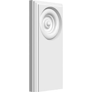 Standard Foster Bullseye Plinth Block w/Beveled Edge