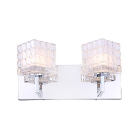 Woodbridge Lighting 18652CHRLE-C80415 Candice 2-light Bath w/ LED