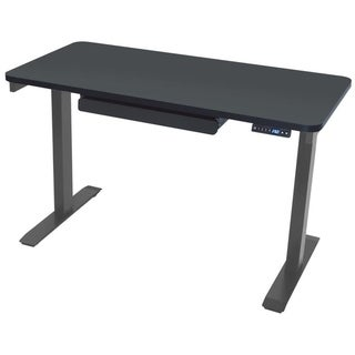 Motionwise SDG48B Electric Standing Desk, 24x48 inch Home Office Series, Black