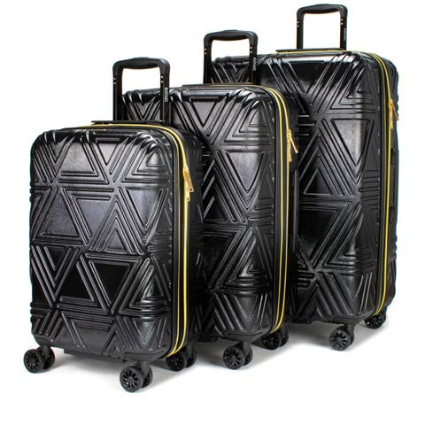 Badgley Mischka Contour Hard Expandable Spinner Luggage Set (3-Piece)
