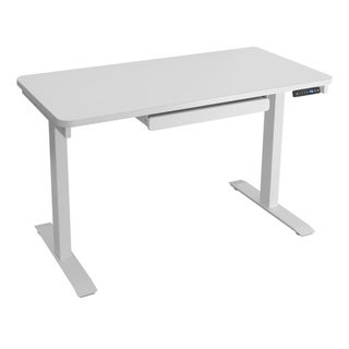 Motionwise SDG48W Electric Standing Desk, 24x48 inch Home Office Series, White