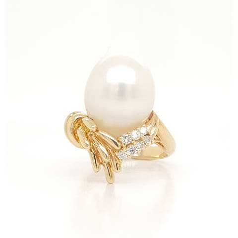 Southsea Pearl and Diamond Nest Ring