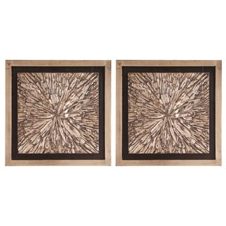Bark Textured Wall Art Set
