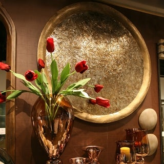 Copper Grove Pavillons Goldtone Mosaic Round Iron Wall decor