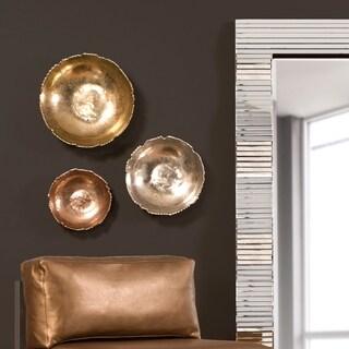 Silver Orchid Copper Broken Edge Bowl / Wall Art