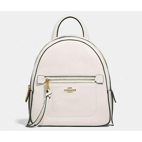 COACH F38348 Andi Pebble Leather Backpack Chalk