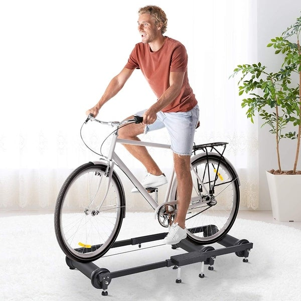 Soozier Adjustable Indoor Fitness Cycling Parabolic Roller Bike Trainer. Opens flyout.