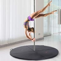 Soozier Round Folding Portable Pole Dance Crash Mat - Black