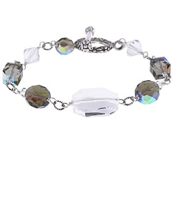 Charming Life Special Occasion Crystal Sterling Toggle Bracelet