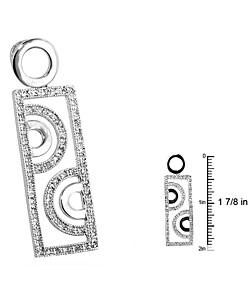 Kate Bissett Silvertone Geometric Cubic Zirconia Pendant