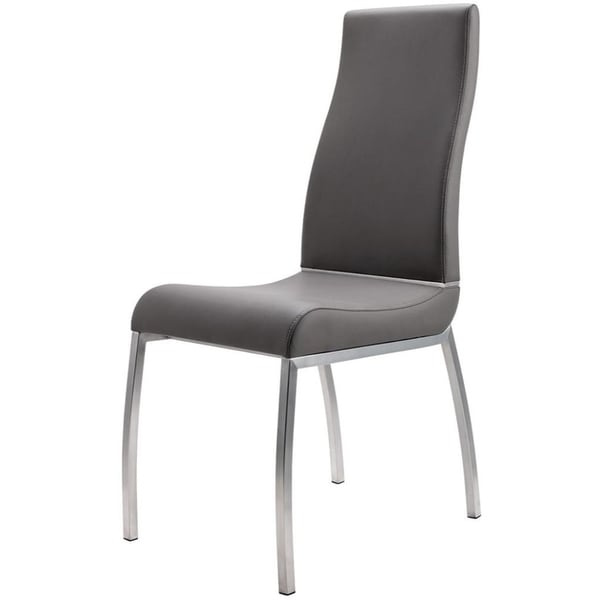 Shop Faux Leather Upholstered Dining Chair with Stainless ...