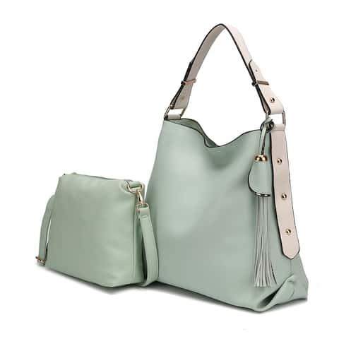 MKF Collection Rosetta Hobo with Crossbody Bag by Mia K. Farrow