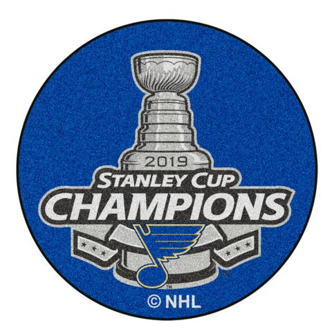 "St. Louis Blues 2019 Stanley Cup Champions Puck Mat 27"" diameter - 2' x 3'"