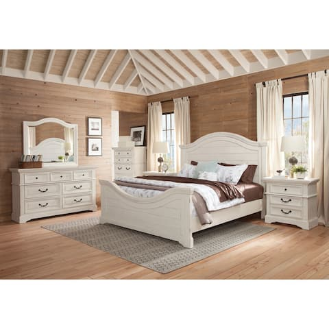 Lakewood 6-Piece Antique White Bedroom Set by Greyson Living