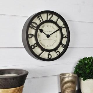 FirsTime & Co.® Pinstripe Wall Clock
