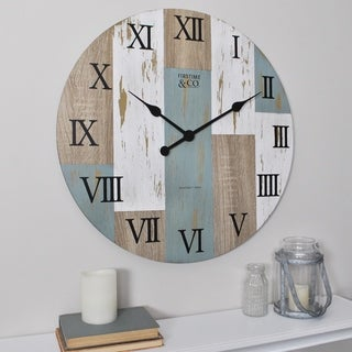 FirsTime & Co.® Timber Planks Wall Clock - 24""