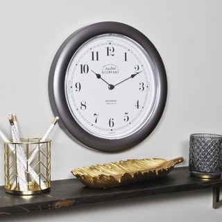 FirsTime & Co.® Nickel Homestyle Wall Clock
