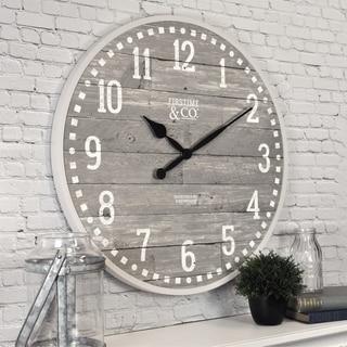 "FirsTime & Co.® Arlo Gray Wall Clock - 20"""