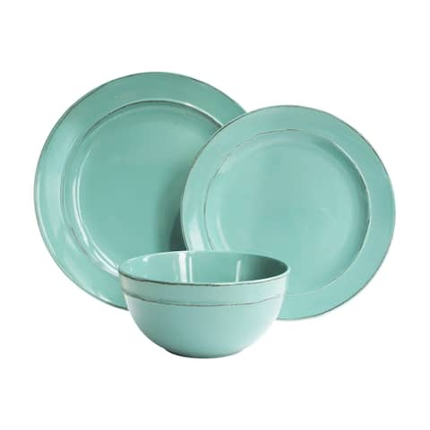 Olivia Seafoam 12 pc Dinner Set
