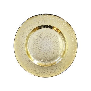 """speckled gold charger plate 13""""d"""