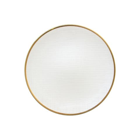 "laurel white charger plate 13""d"