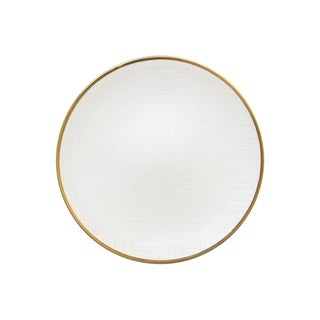 """laurel white charger plate 13""""d"""