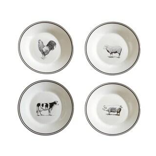 "farm animals set of 4 salad plates  8""d x 0.75""h"