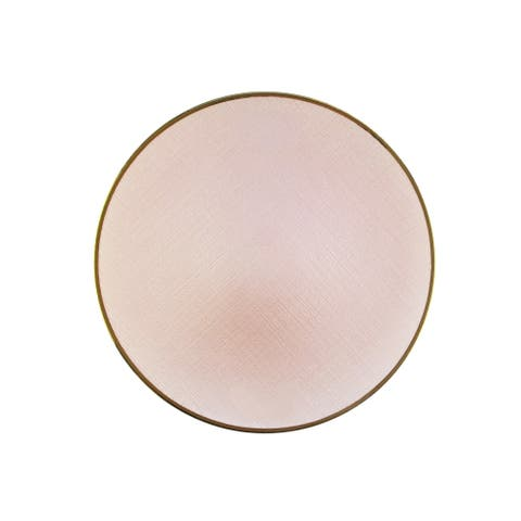 """laurel pink charger plated 13""""d"""