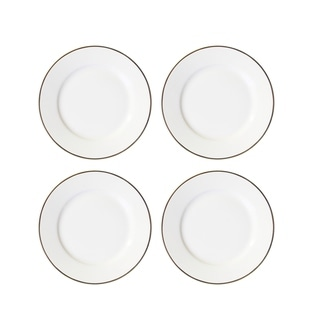 "Link to alanna gold bone china set/4 canape plates 6""d Similar Items in Dinnerware"