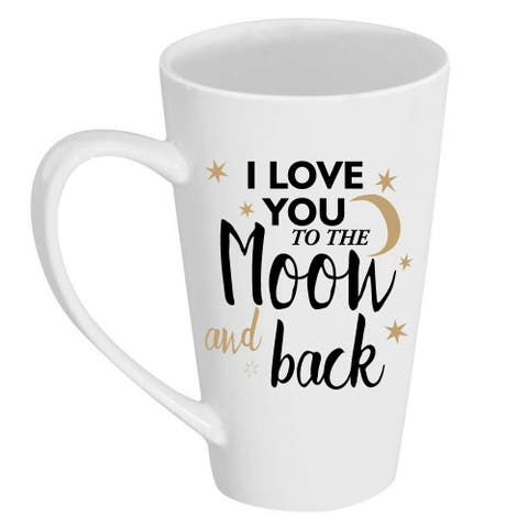 I Love You to the Moon and Back Tall 17 oz Latte Mug
