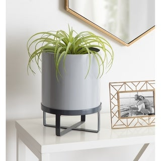 Kate and Laurel Bracey Metal Planter with Stand