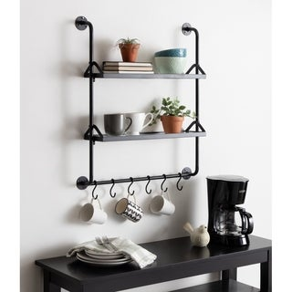 Kate and Laurel Marit Metal Wall Shelf - 26x31