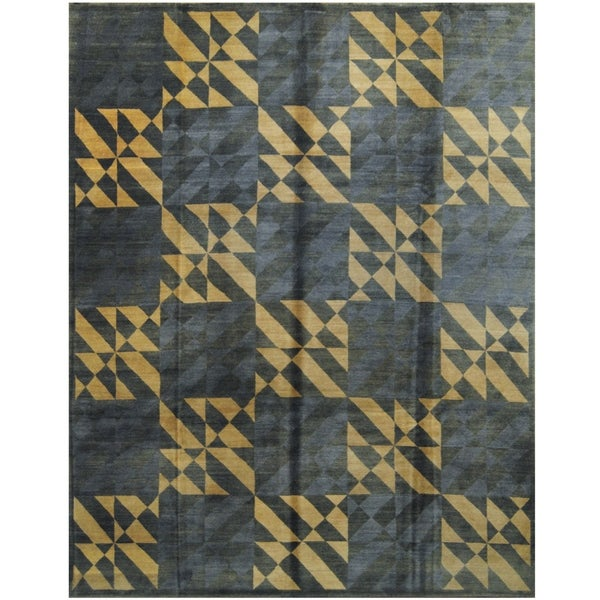 Handmade One-of-a-Kind Tibetan Wool Rug (India) - 8'8 x 11'4