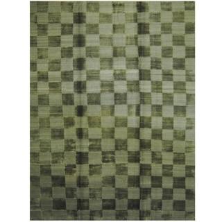 Handmade One-of-a-Kind Tibetan Wool Rug (India) - 9' x 12'