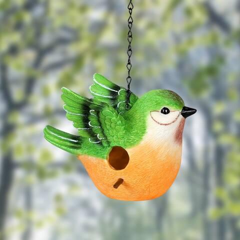9.5 Inch Peach Bird Bird House