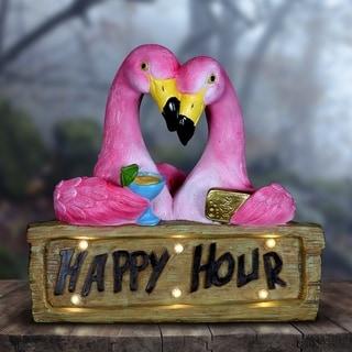 Solar Happy Hour Flamingos
