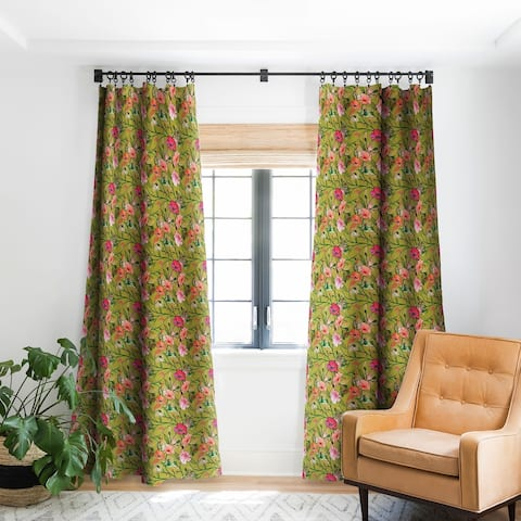 Deny Designs Vintage Floral Blackout Curtain Panel (2 Size Options)