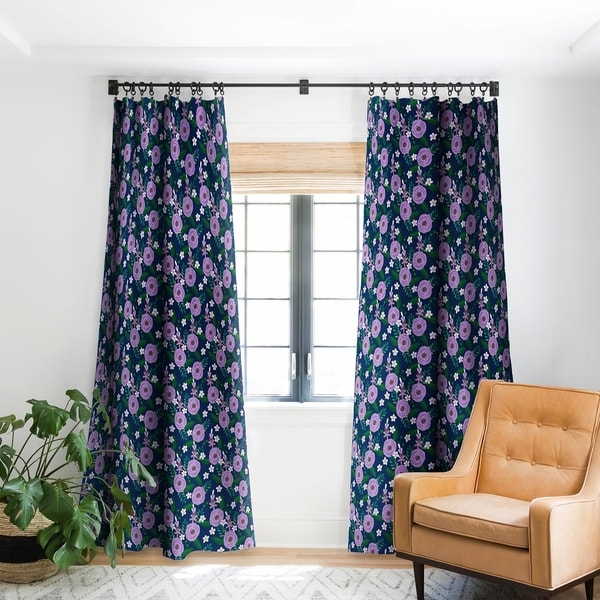 Deny Designs Purple Roses Blackout Curtain Panel (2 Size Options). Opens flyout.