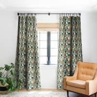 Deny Designs Mid Century Blue Blackout Curtain Panel (2 Size Options)