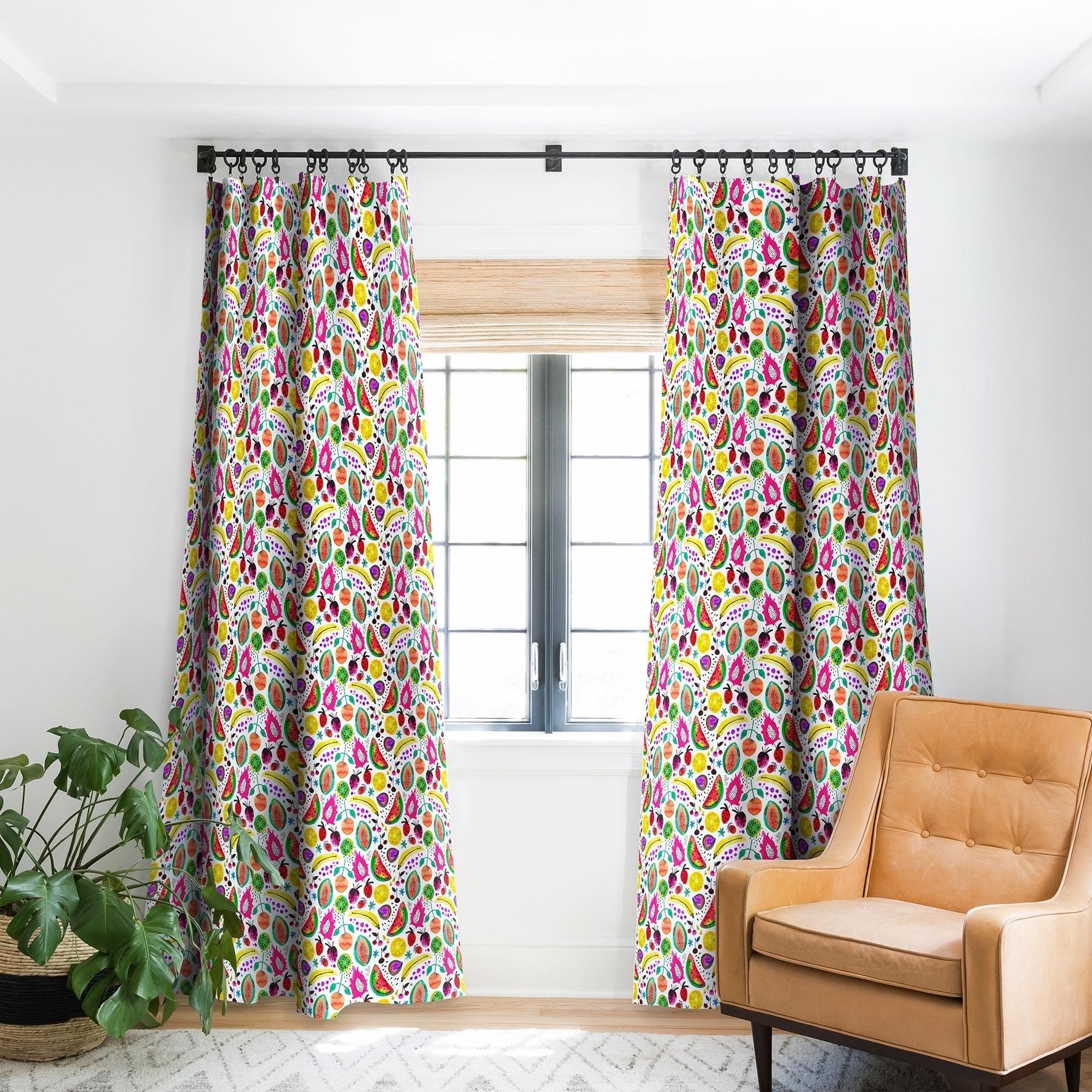 Deny Designs Fruits Papaya Blackout Curtain Panel 2 Size Options On Sale Overstock 28313523